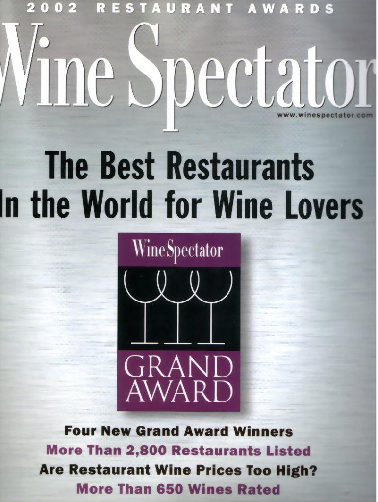 wine spectator 2002