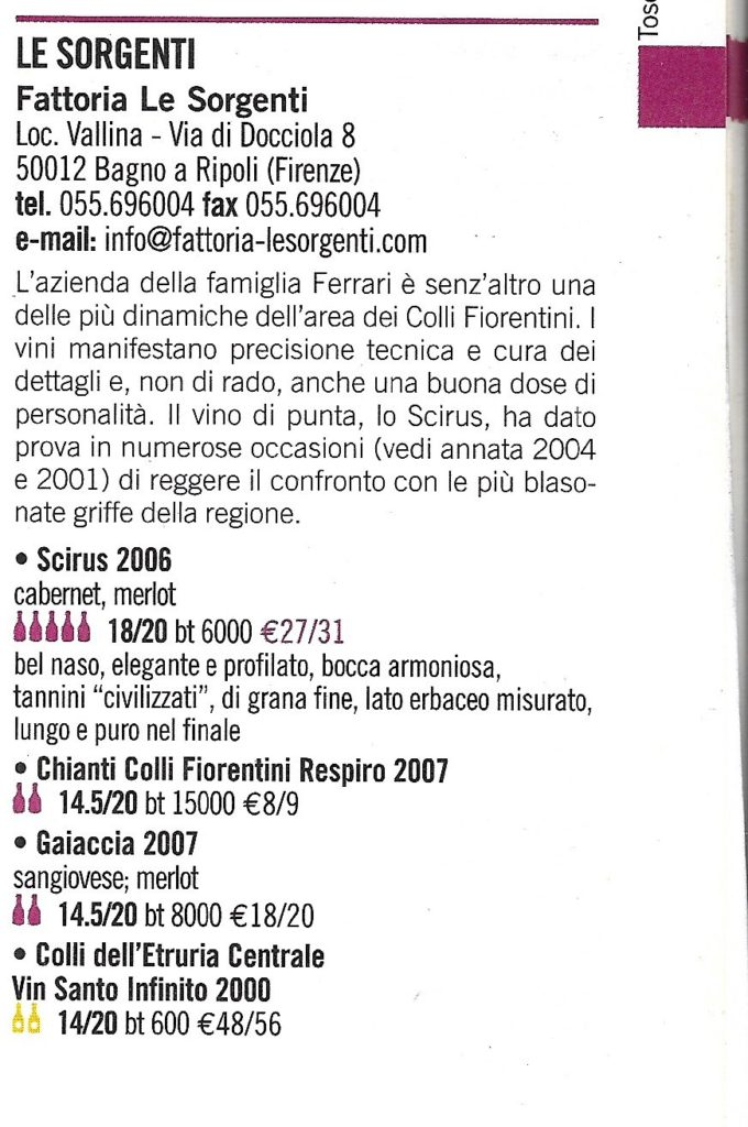 I Vini d'Italia. Ed. Espresso 2010